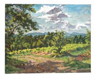 etsy, french art, and country landscape image