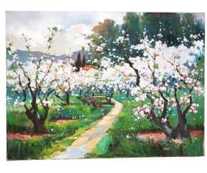 cherry blossom, etsy, and french art image