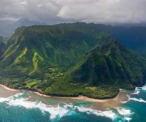 aerial, clouds, and hawaii image