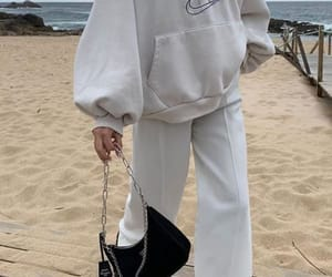 outfit, white, and beach image