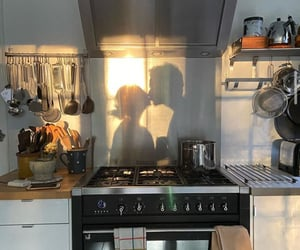 kitchen, love, and couple image