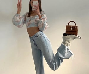long sleeve top, fashion style mode, and outfit of the day ootd image