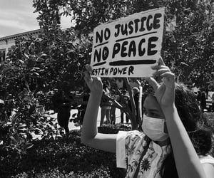 blackandwhite, protest, and racism image