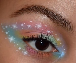 aesthetic, artsy, and makeup art image