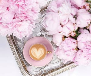 coffee, flower, and instagram image