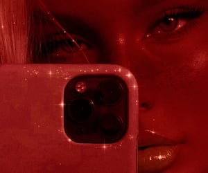 aesthetic, bling, and red image