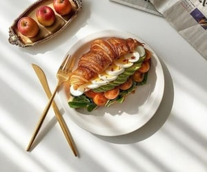 apples, croissant, and tasty food image