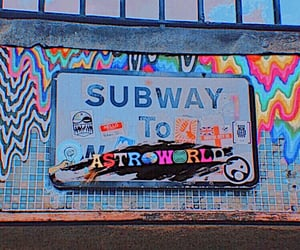 aesthetic, subway, and astroworld image