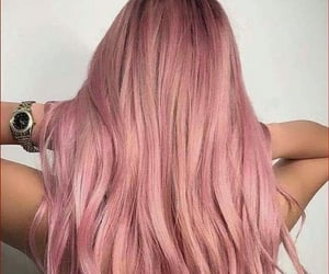 color hair, rose gold hair, and fantasy color hair image