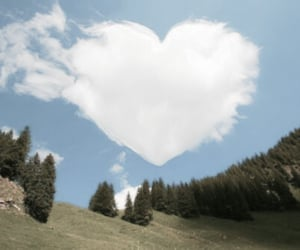 clouds, aesthetic, and heart image