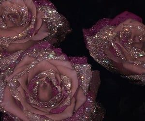 glitter, rose, and pink image