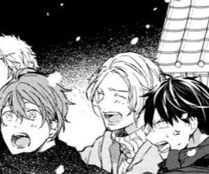 manga, monochrome, and given image