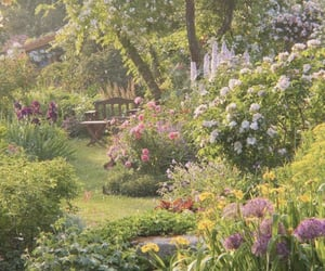 garden, flowers, and aesthetic image