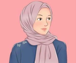 allah, anime, and hijab image
