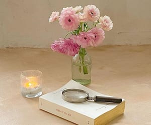 candles, flowers, and girly image
