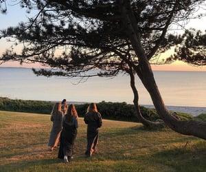bright, sunset, and beach image