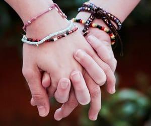 bracelet, bracelets, and teenage girls image