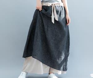 long skirt, maxi skirt, and summer skirt image