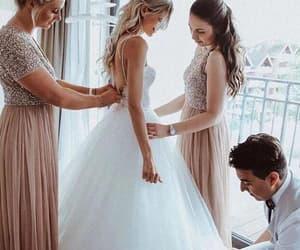 wedding dress, fashion, and bridal dress image