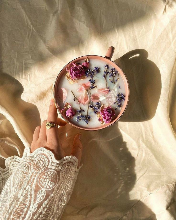 flowers, aesthetic, and tea image