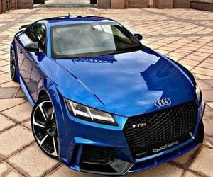 audi, blue, and car image