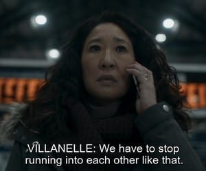 sandra oh, villanelle, and killing eve image