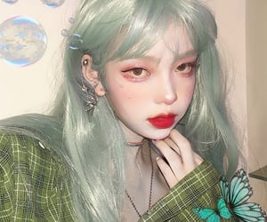 green, grunge, and mint image