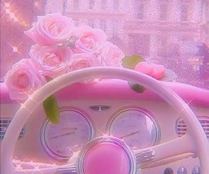 aesthetics, pink rose, and pink bling image