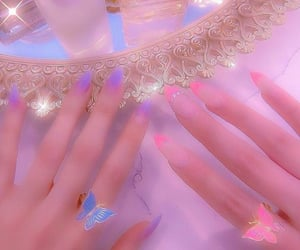 aesthetics, pink nails, and pink theme image