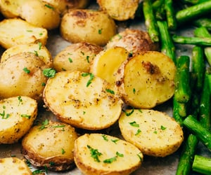 asparagus and roast potato image