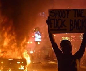 protest, acab, and fire image