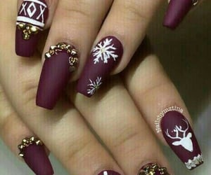beauty, burgundy, and nails image