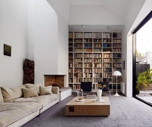 home, book, and interior image
