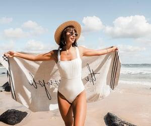 beach, bikinis, and exterior image