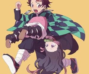 kimetsu no yaiba, tanjirou, and nezuko image