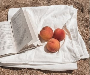 peach, book, and summer image