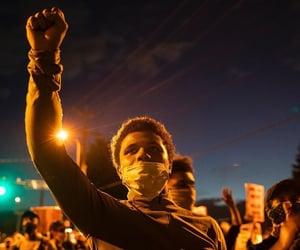 black women, fight, and black men image