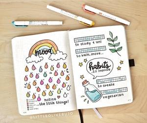 mood tracker, bullet journal, and habit tracker image