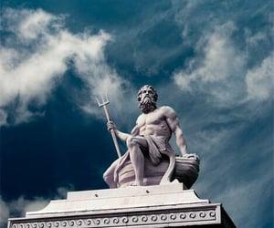 poseidon, statue, and god image