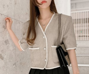asian fashion, jacket, and kfashion image