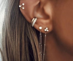 piercing, earrings, and jewelry image