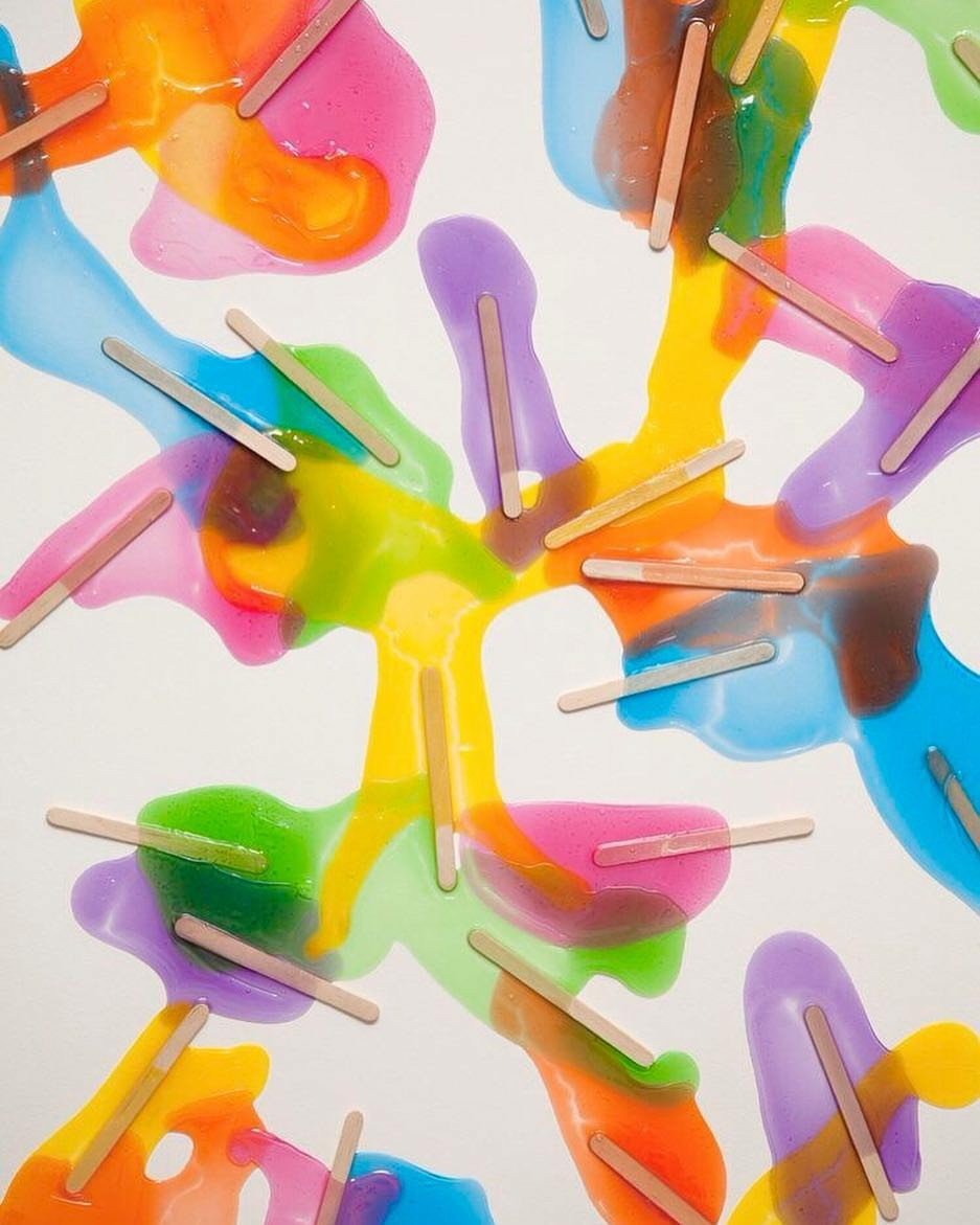 popsicle, colorful, and colors image
