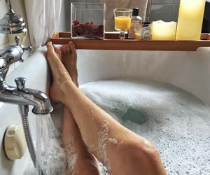 bath, cozy, and me time image