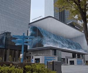 big wave, gif, and seoul aquarium image