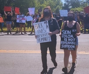 america, humanity, and protests image