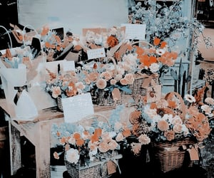 blue, flowers, and nayeon theme image