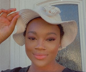 beauty, black girl, and hat image
