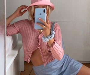 pink, blue, and fashion image