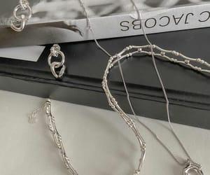 chain, earrings, and minimalist image