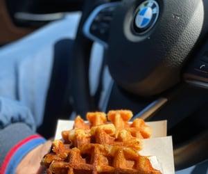 bmw, food, and belgian waffles image